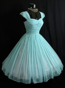 Light Blue Sweetheart Neckline A-Line Ruched Chiffon Homecoming Dress