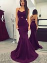 Show details for Elegant Spaghetti Strap Mermaid Floor-Length Prom Dress With Open Back