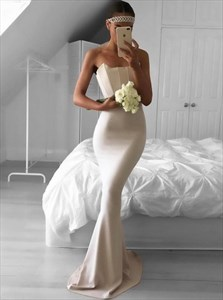 Trumpet/Mermaid Floor-Length Strapless Ruched Bodice Evening Dress