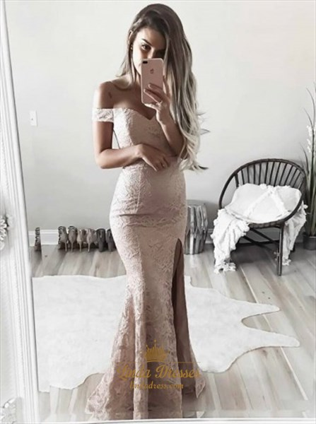 Simple Lace Prom Dresses