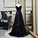 Show details for Iridescent Sparkly Glitter Sequin Evening Dress