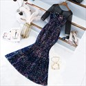 Show details for Iridescent Sparkly Glitter Sequin Evening Dress